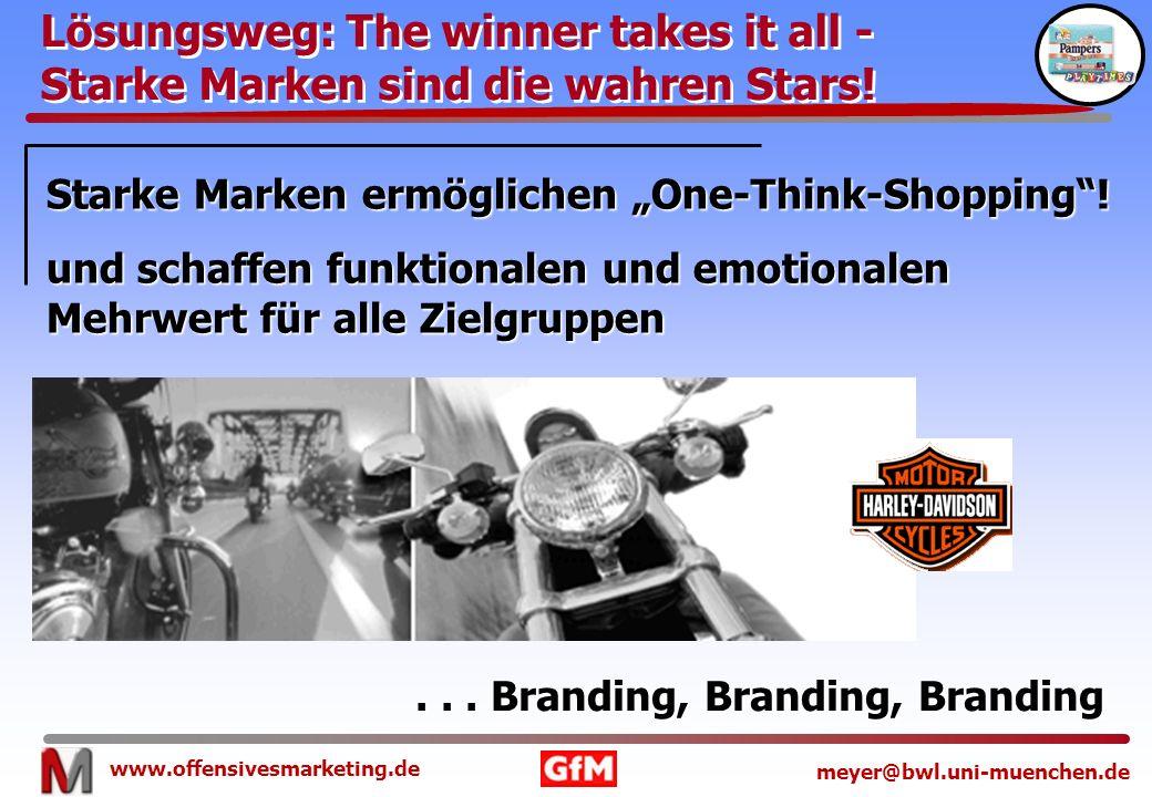 Lösungsweg: The winner takes it all - Starke Marken sind die wahren Stars!