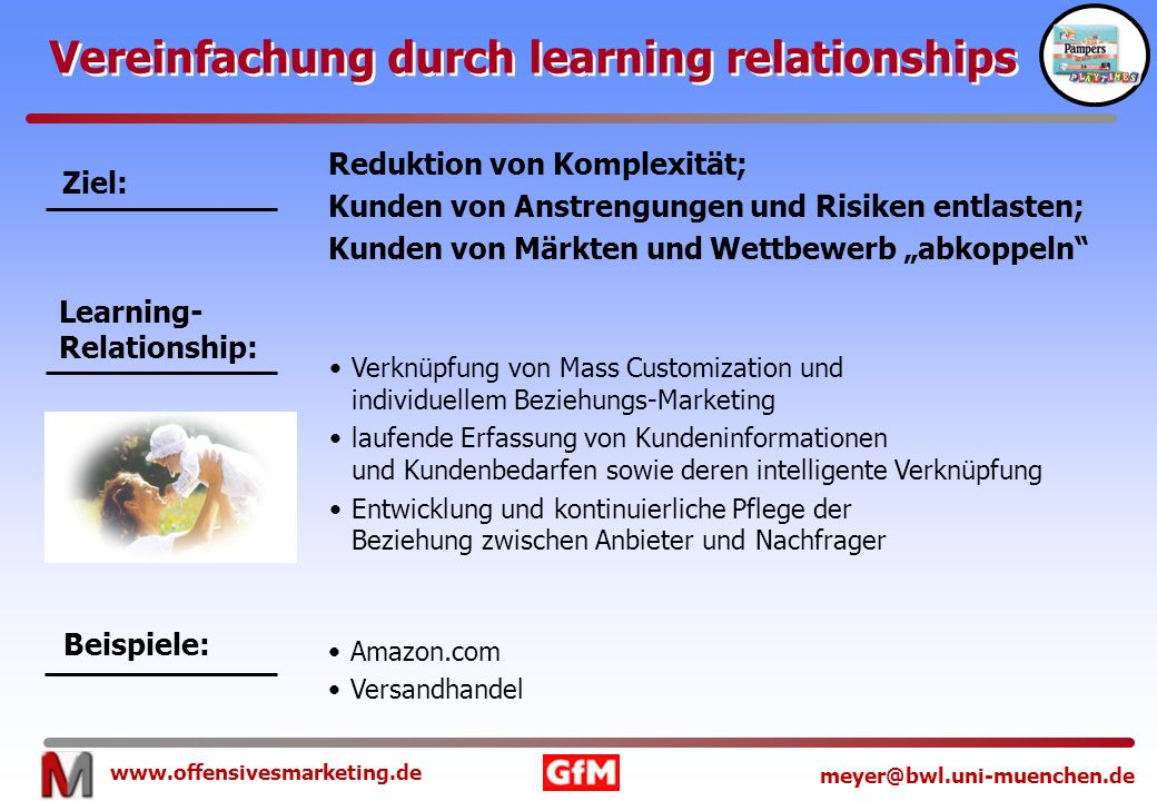 Vereinfachung durch learning relationships