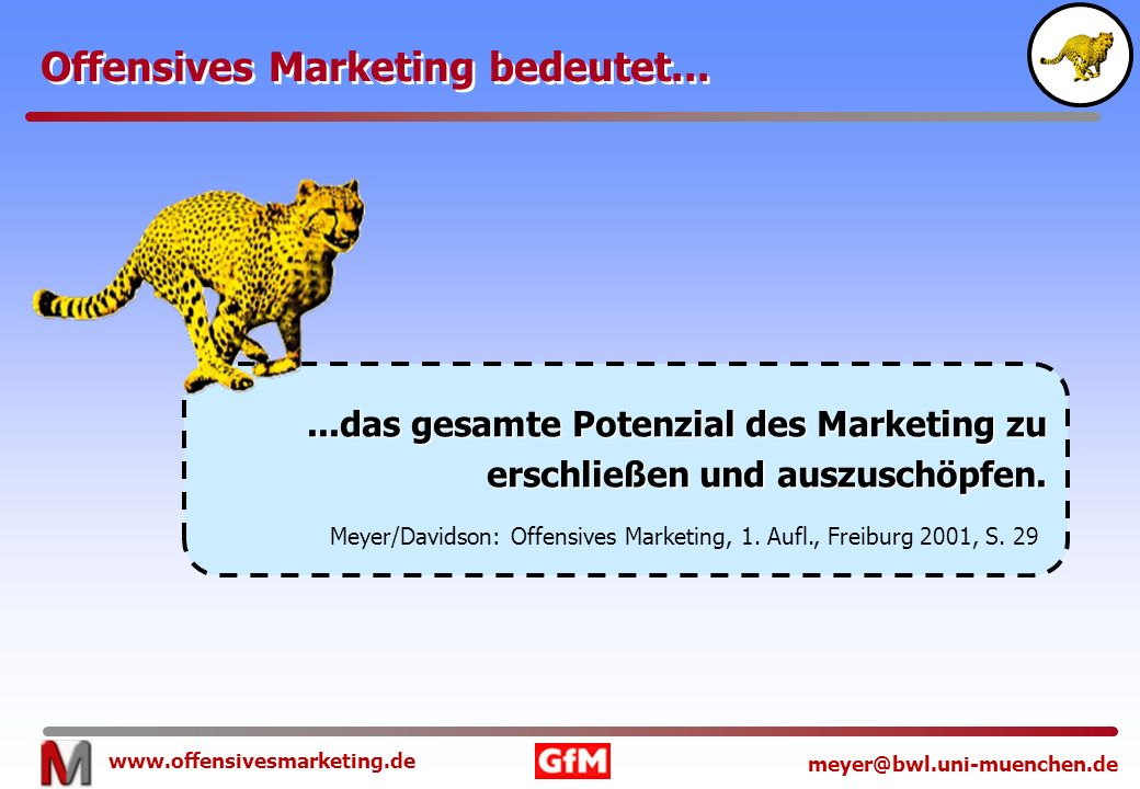 Offensives Marketing bedeutet...