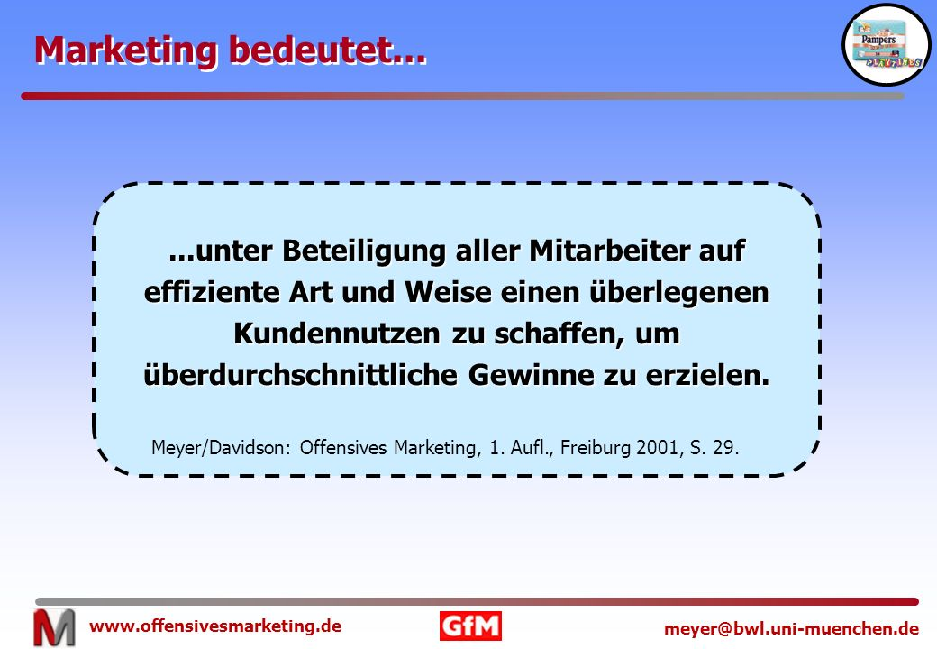 Marketing bedeutet...