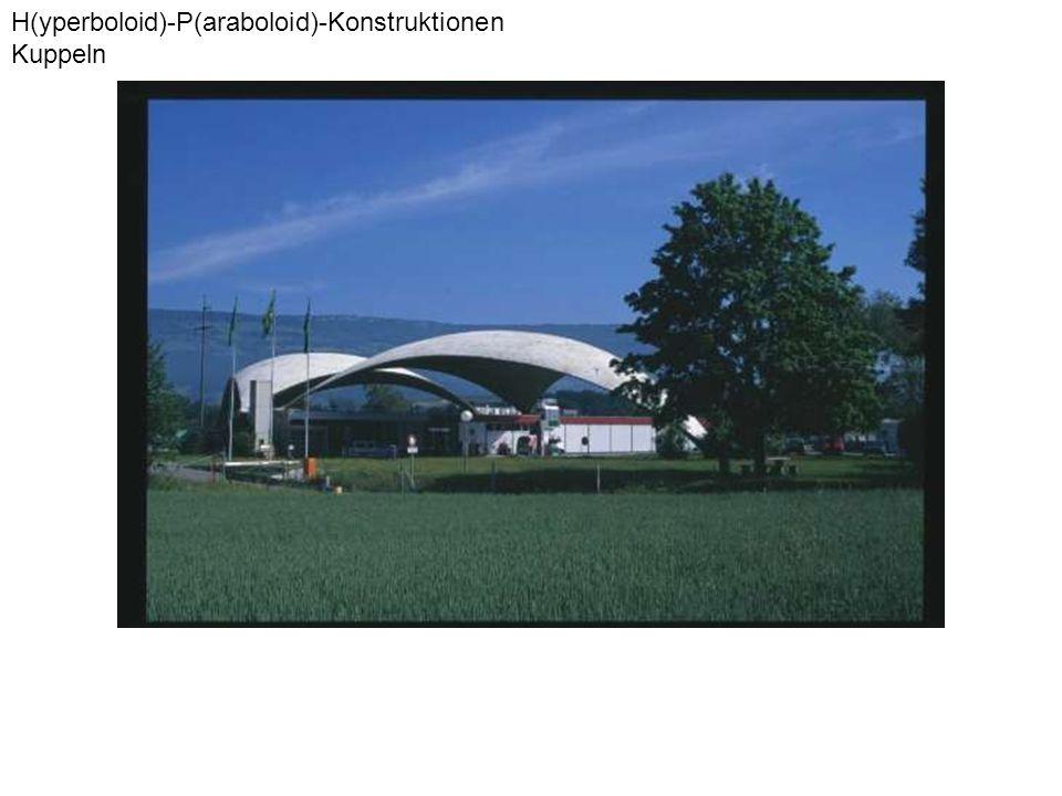 H(yperboloid)-P(araboloid)-Konstruktionen Kuppeln