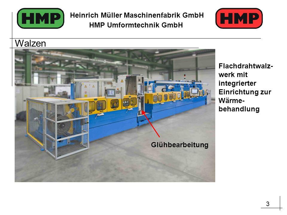 Walzen Flachdrahtwalz-werk mit integrierter Einrichtung zur Wärme-behandlung Glühbearbeitung