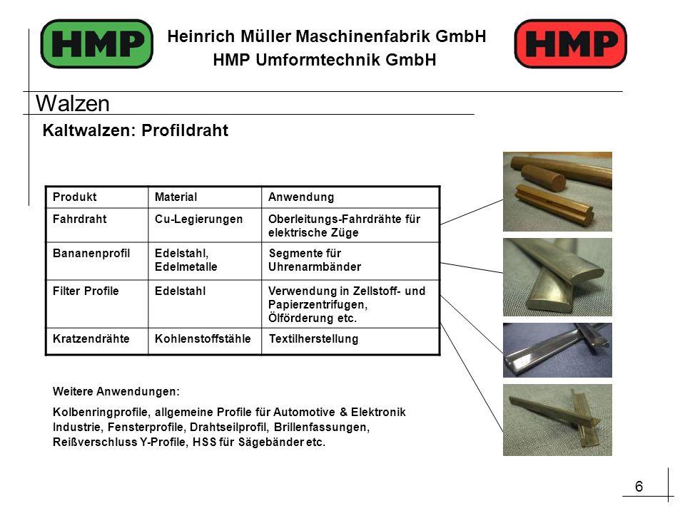 Walzen Kaltwalzen: Profildraht Produkt Material Anwendung Fahrdraht