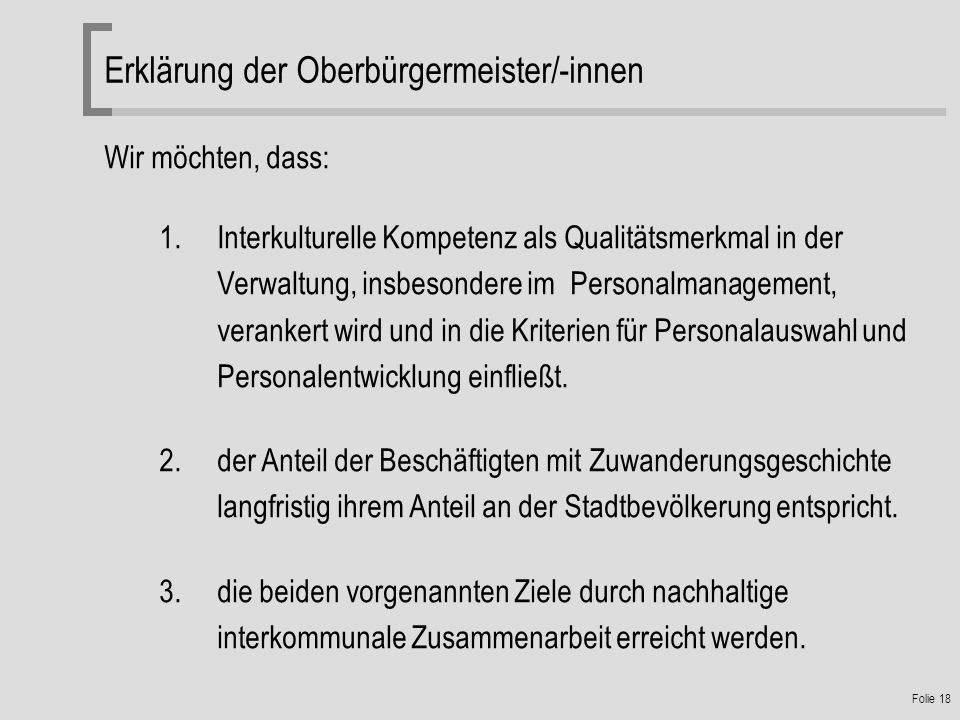 Erklärung der Oberbürgermeister/-innen