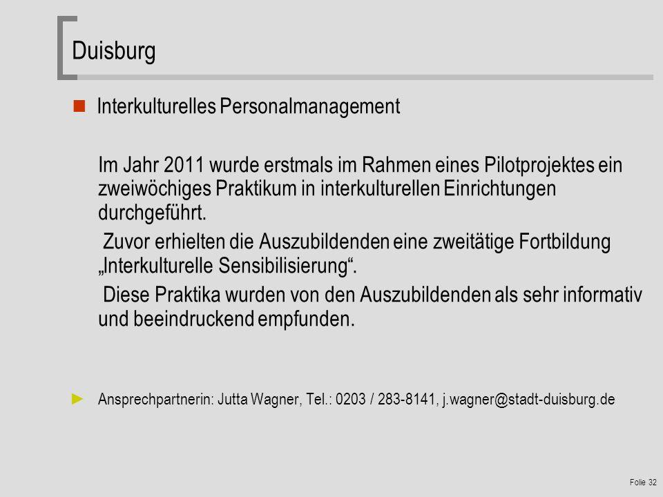 Duisburg Interkulturelles Personalmanagement