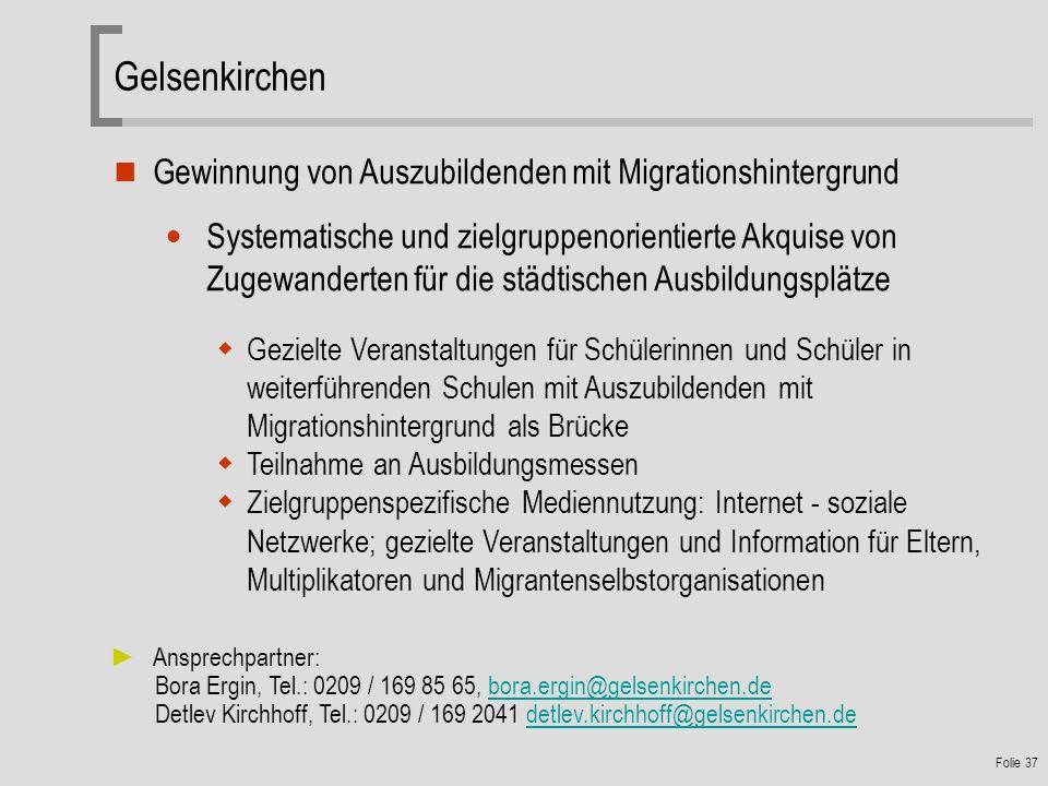Gelsenkirchen Gewinnung von Auszubildenden mit Migrationshintergrund