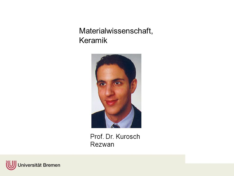 Materialwissenschaft, Keramik