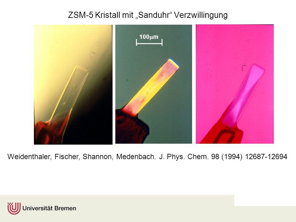 """ZSM-5 Kristall mit """"Sanduhr Verzwillingung"""