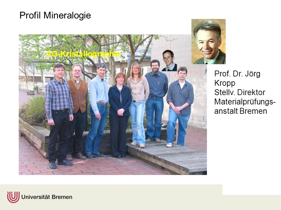 Profil Mineralogie AG-Kristallographie Prof. Dr. Jörg Kropp