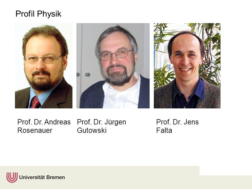 Profil Physik Prof. Dr. Andreas Rosenauer Prof. Dr. Jürgen Gutowski