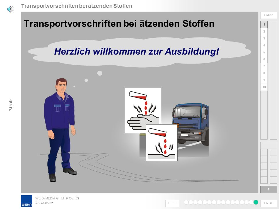 Transportvorschriften bei ätzenden Stoffen