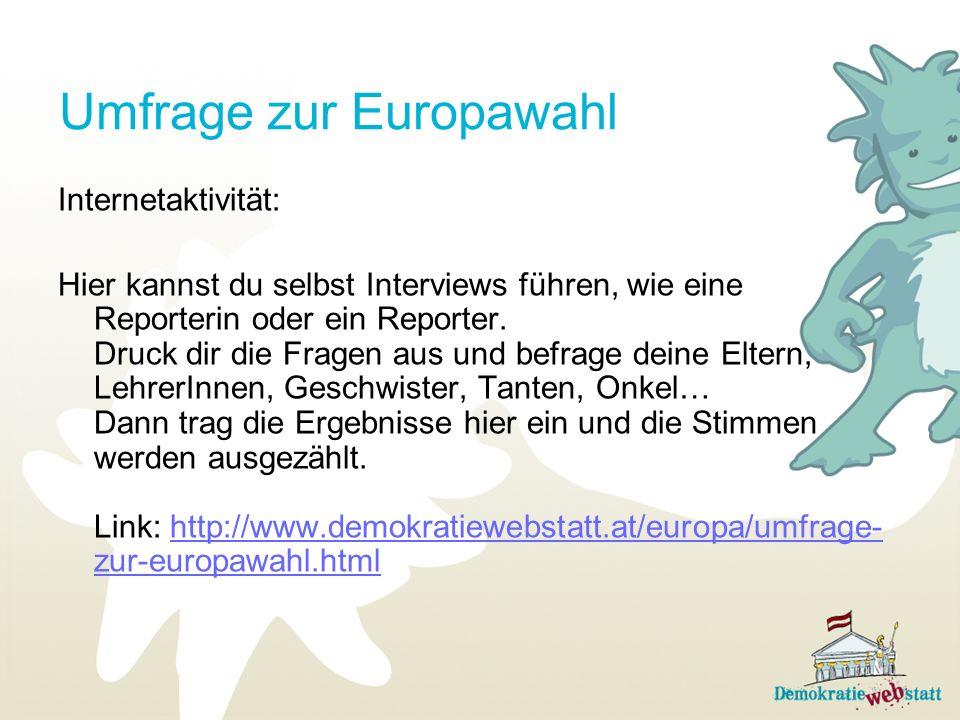 Umfrage zur Europawahl