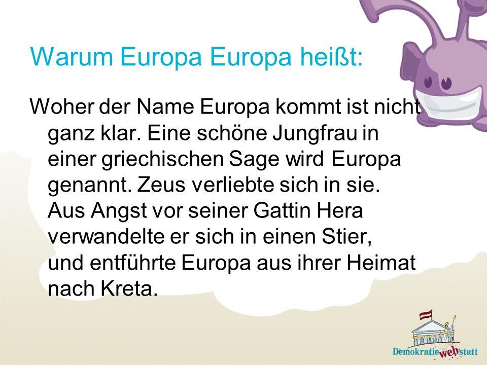 Warum Europa Europa heißt: