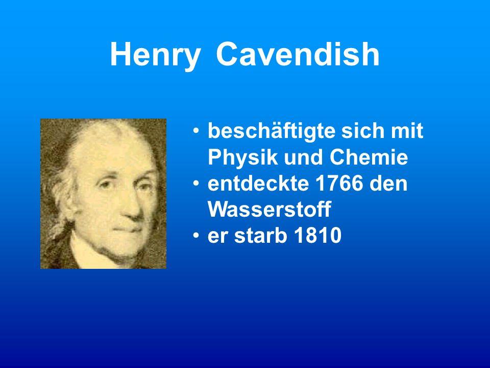 Henry Cavendish beschäftigte sich mit Physik und Chemie