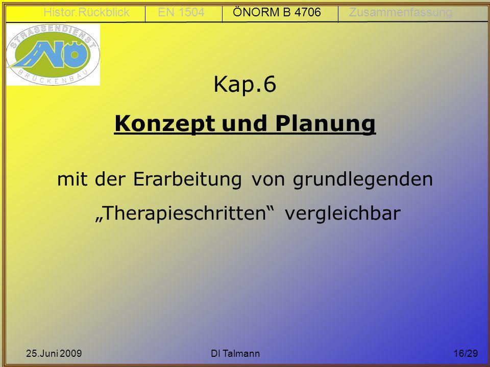 Kap.6 Konzept und Planung mit der Erarbeitung von grundlegenden