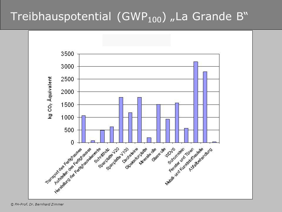 "Treibhauspotential (GWP100) ""La Grande B"
