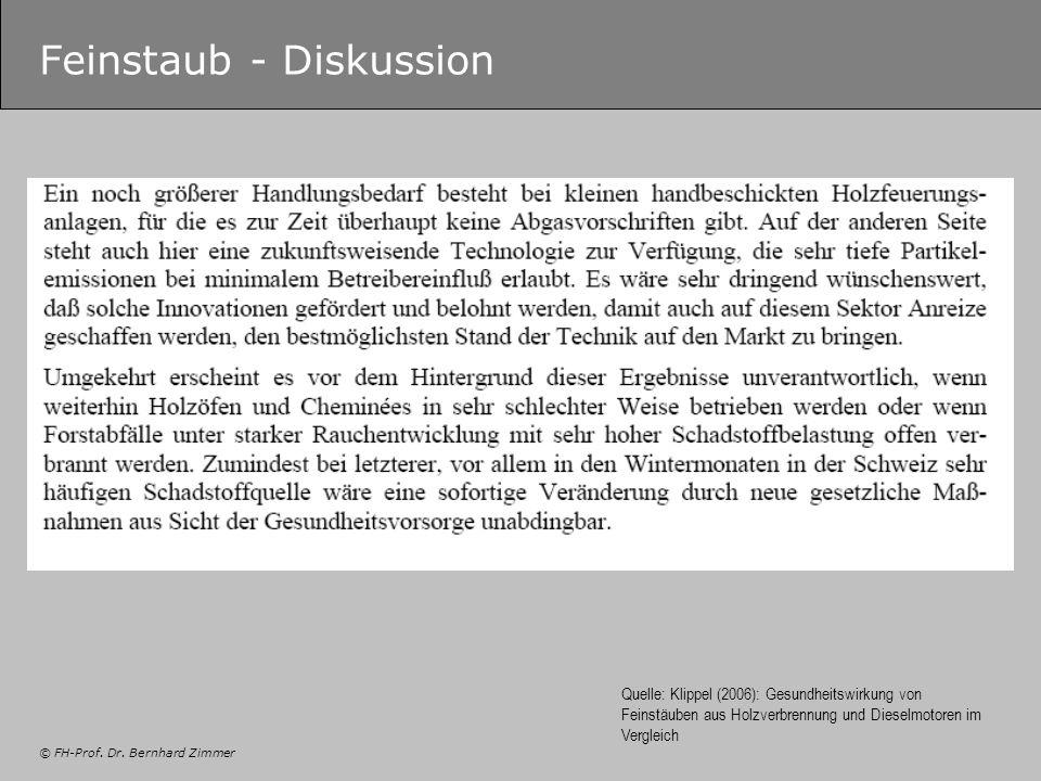 Feinstaub - Diskussion