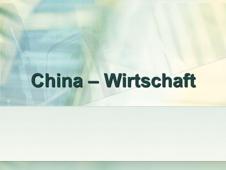 China – Wirtschaft