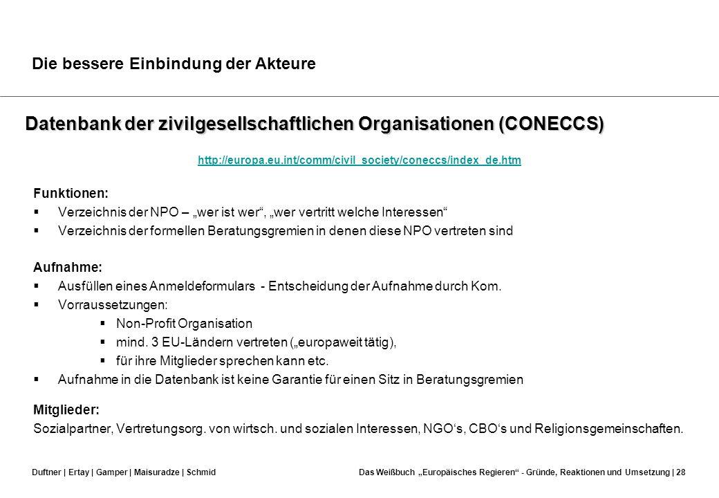 Datenbank der zivilgesellschaftlichen Organisationen (CONECCS)