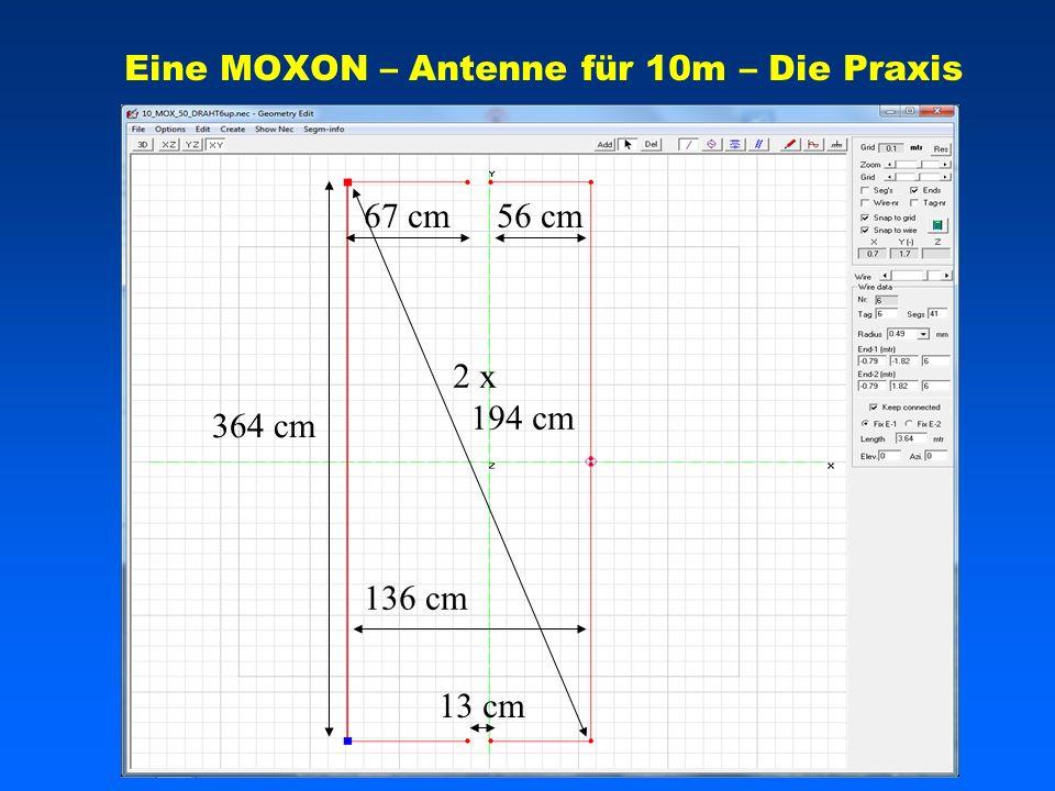 Eine MOXON – Antenne für 10m – Die Praxis