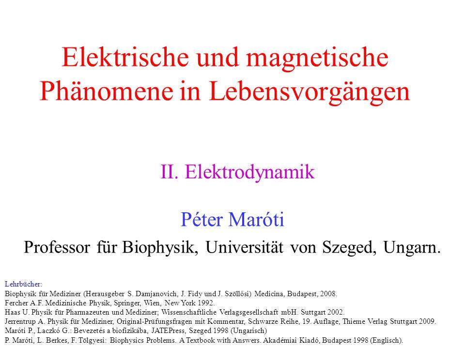 Elektrische und magnetische Phänomene in Lebensvorgängen