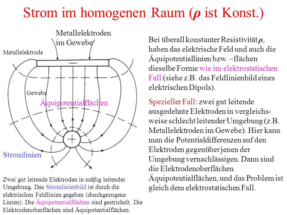 Strom im homogenen Raum (ρ ist Konst.)