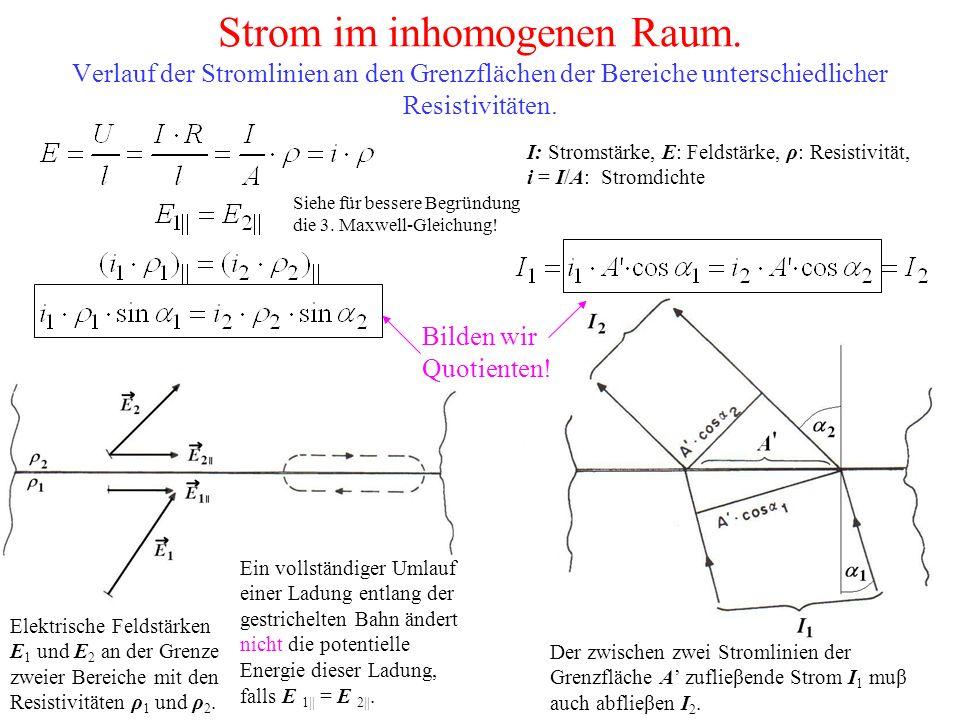 Strom im inhomogenen Raum