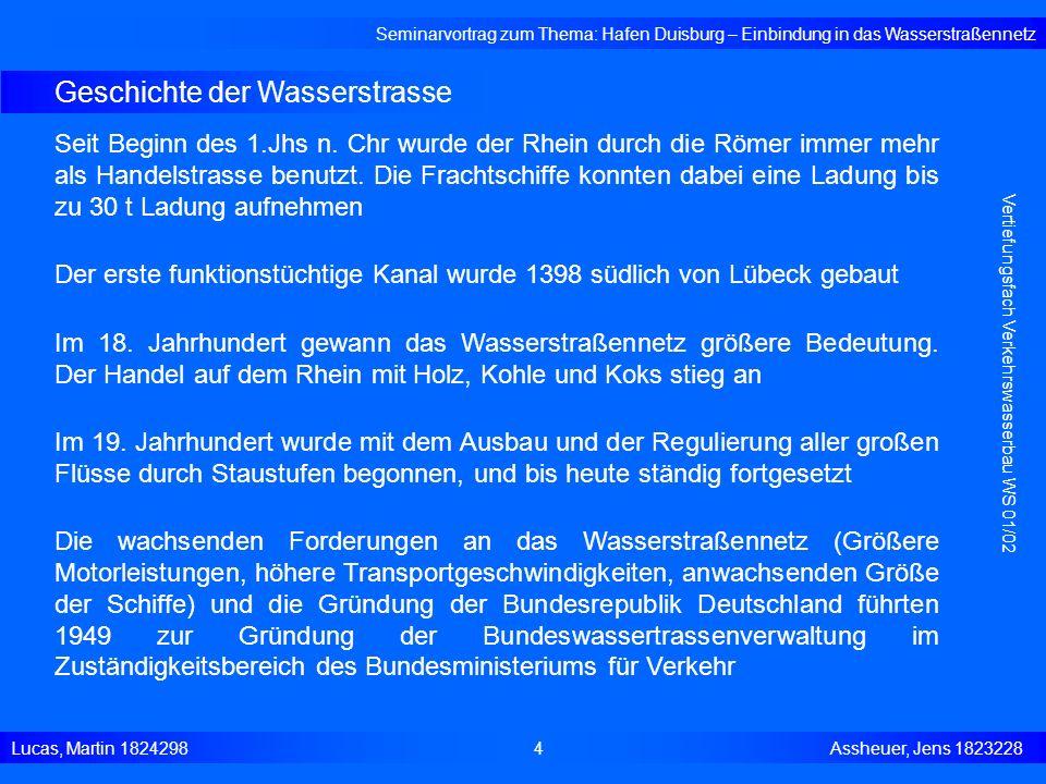 Geschichte der Wasserstrasse