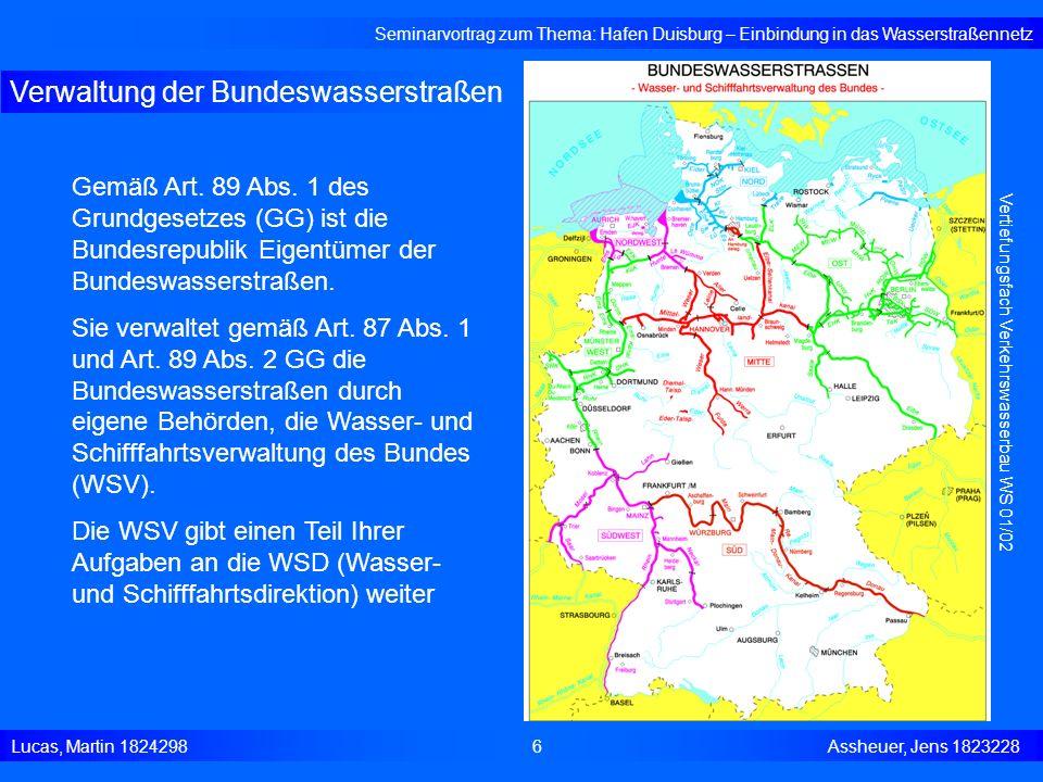 Verwaltung der Bundeswasserstraßen