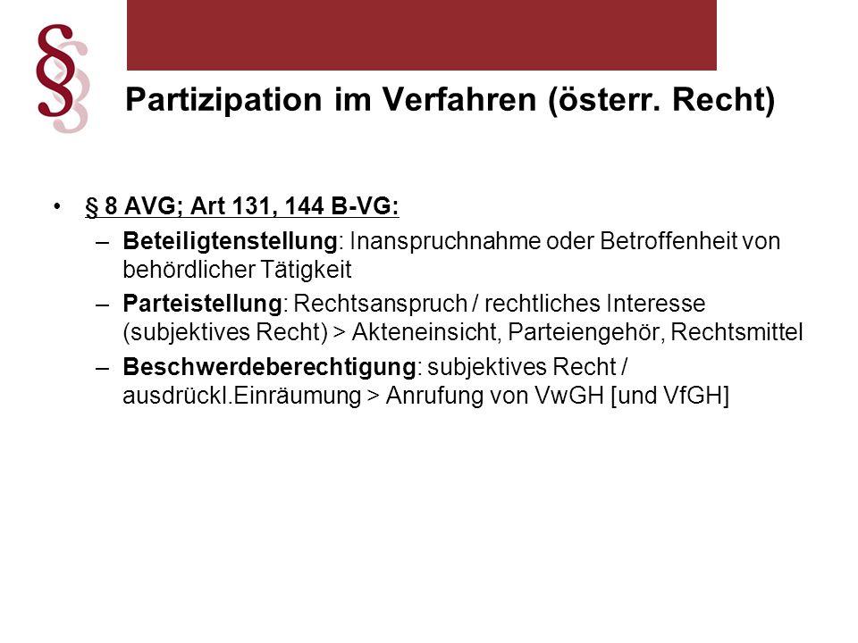 Partizipation im Verfahren (österr. Recht)