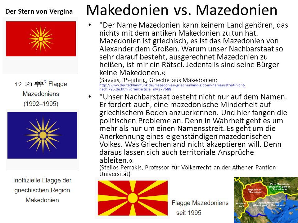 Makedonien vs. Mazedonien