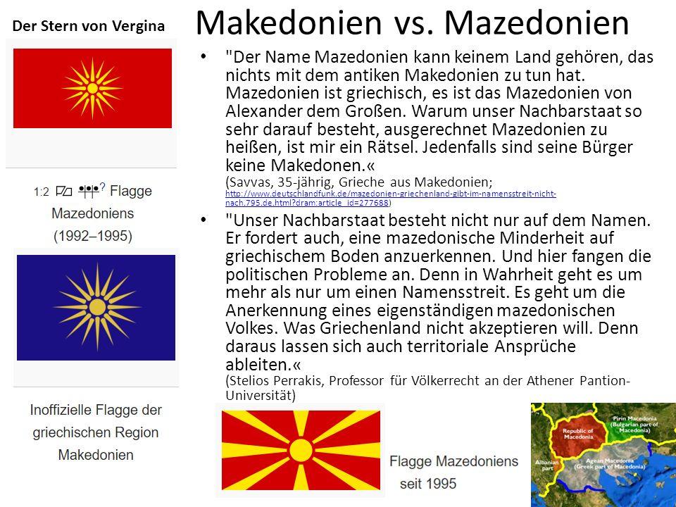 Makedonien vs. Mazedonien
