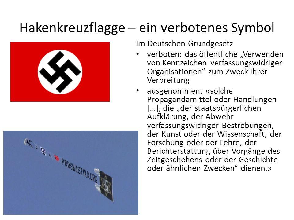 Hakenkreuzflagge – ein verbotenes Symbol