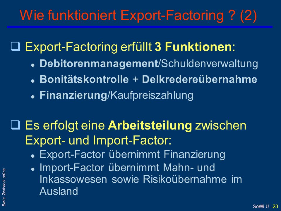 Wie funktioniert Export-Factoring (2)