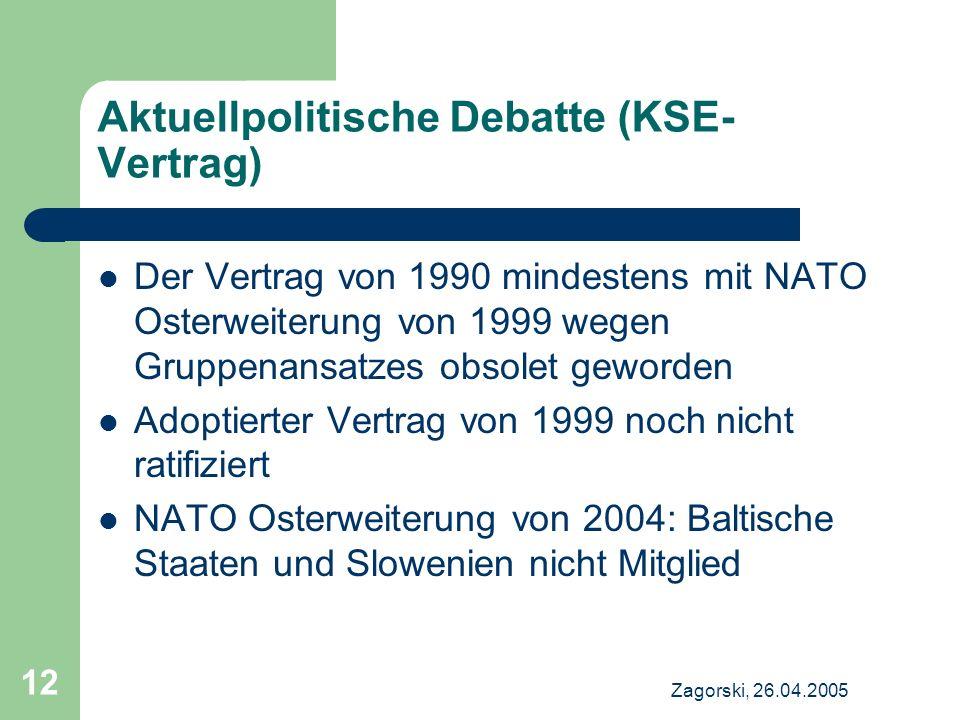 Aktuellpolitische Debatte (KSE-Vertrag)
