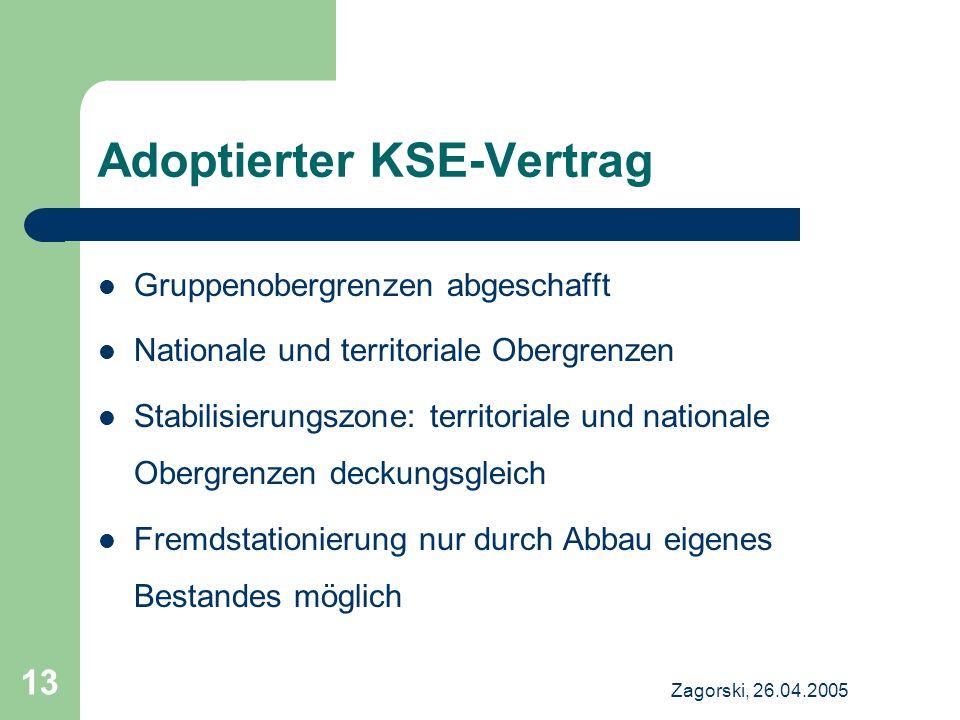 Adoptierter KSE-Vertrag