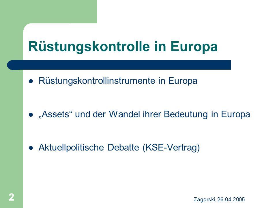 Rüstungskontrolle in Europa