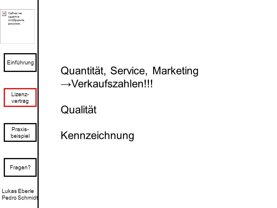 Quantität, Service, Marketing