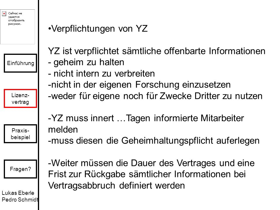 Verpflichtungen von YZ