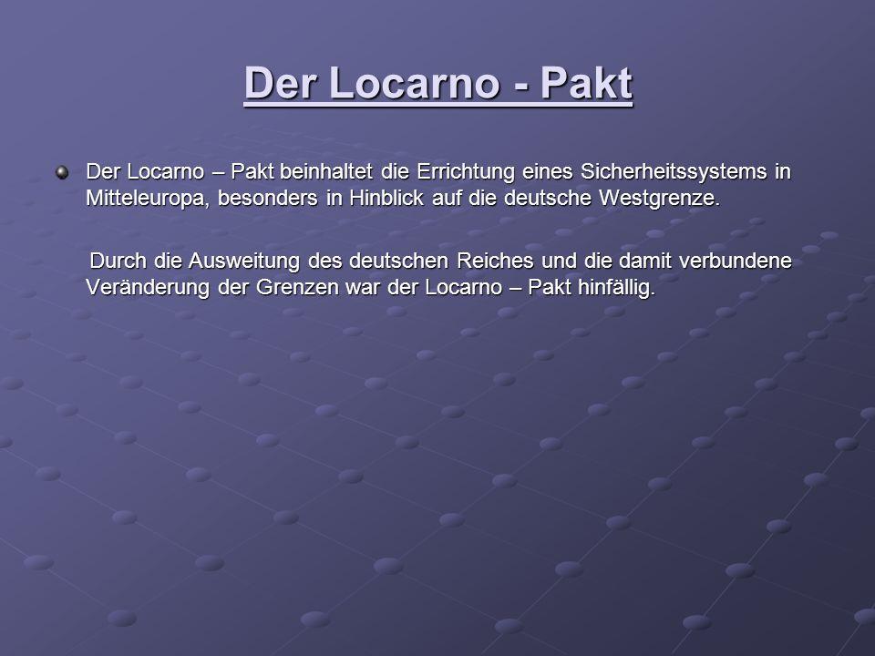 Der Locarno - Pakt