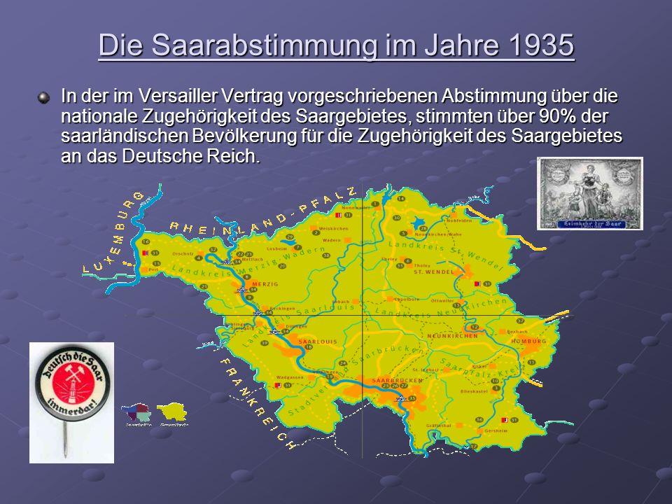 Die Saarabstimmung im Jahre 1935