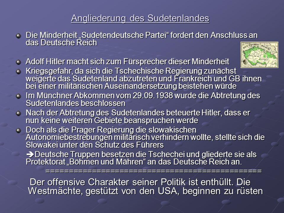Angliederung des Sudetenlandes