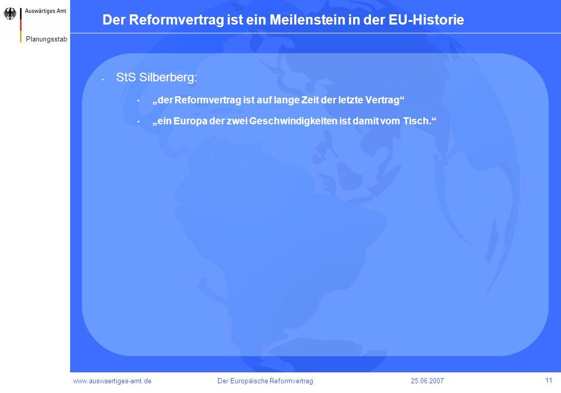 Der Reformvertrag ist ein Meilenstein in der EU-Historie