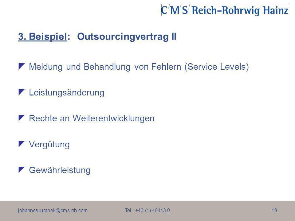 3. Beispiel: Outsourcingvertrag II