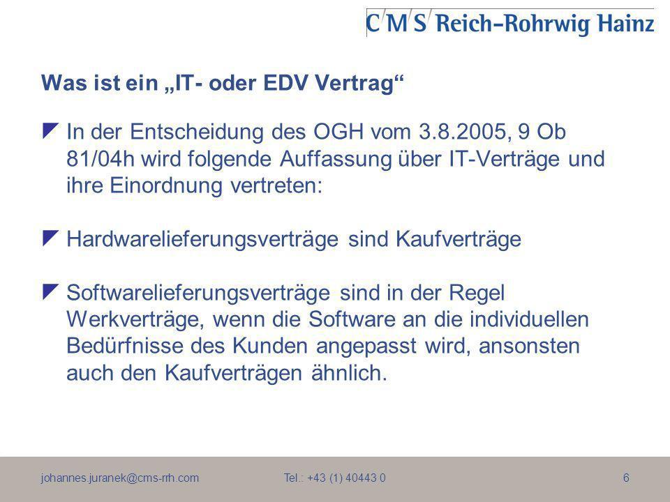 """Was ist ein """"IT- oder EDV Vertrag"""