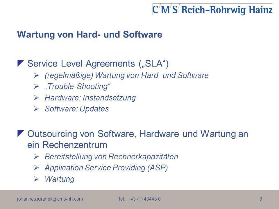 Wartung von Hard- und Software