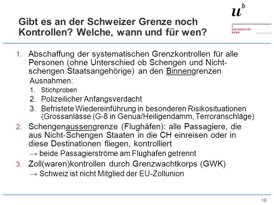 Gibt es an der Schweizer Grenze noch Kontrollen