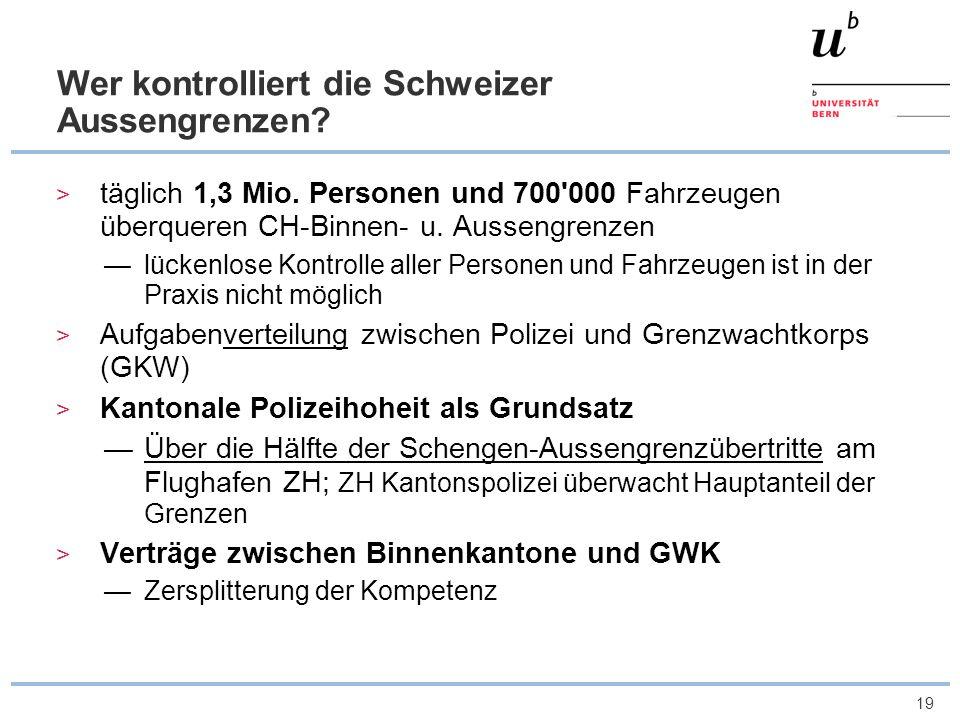 Wer kontrolliert die Schweizer Aussengrenzen