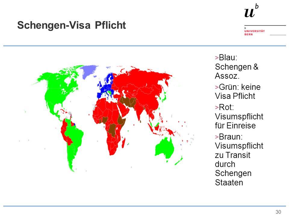 Schengen-Visa Pflicht