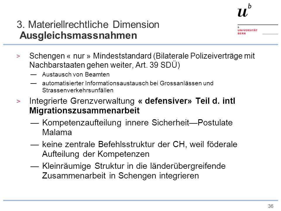 3. Materiellrechtliche Dimension Ausgleichsmassnahmen